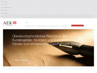 aekbank.ch Webseite Vorschau