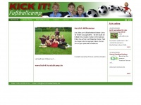 kick-it-fussballcamp.de Webseite Vorschau