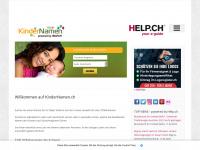 kindernamen.ch Webseite Vorschau