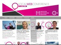 localwebconference.de Webseite Vorschau