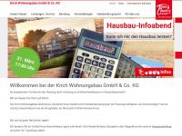 kirch-wohnungsbau.de Webseite Vorschau