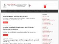 zustellungsvertretung.de Webseite Vorschau