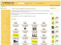 1a-billiger.de Webseite Vorschau