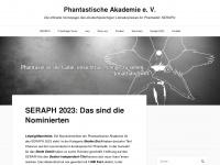 phantastische-akademie.de Webseite Vorschau