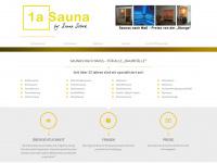 1a-sauna.de Webseite Vorschau