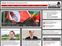 jusos-greifswald.de Webseite Vorschau