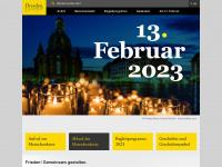 13februar.dresden.de Webseite Vorschau