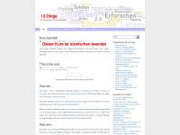 13dinge.wordpress.com Webseite Vorschau