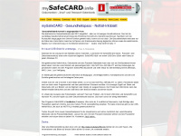 mysafecard.info