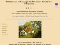 dat-luettje-hus-worpswede.de Webseite Vorschau