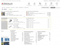 4metal.ch Webseite Vorschau