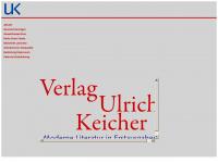 verlag-ulrich-keicher.de Webseite Vorschau