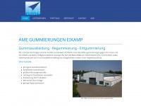 ame-gummierungen.de Webseite Vorschau