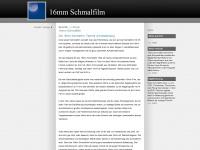 16mmfilm.de Webseite Vorschau