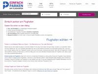 einfach-parken-am-flughafen.de Webseite Vorschau