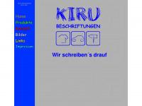 kiru-beschriftungen.de Webseite Vorschau