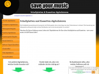 save-your-music.de Webseite Vorschau