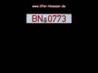 07er-nummer.de Webseite Vorschau
