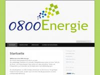 0800energie.de Webseite Vorschau