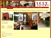 1517-diecaffebar.de Webseite Vorschau