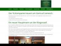 16-kompanie.de Webseite Vorschau