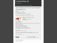 1a-bewerben.de Webseite Vorschau