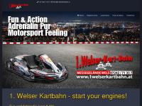 1welserkartbahn.at Webseite Vorschau