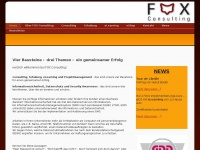 2foxconsulting.de Webseite Vorschau