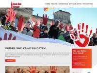 kindersoldaten.info Webseite Vorschau