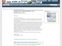 4104.ch Webseite Vorschau