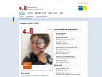 4bis8.ch Webseite Vorschau