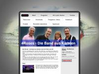 4rosesmusic.at Webseite Vorschau