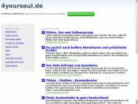 4yoursoul.de Webseite Vorschau