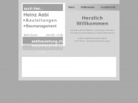 aebibauleitung.ch Webseite Vorschau