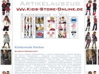 kindermode-marken.de Webseite Vorschau