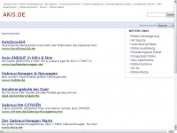 akis.de Webseite Vorschau