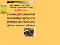 akr-entsorgung.de Webseite Vorschau
