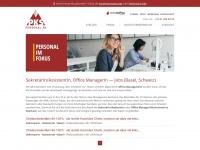 assistentin-sekretaerin-jobs.ch Webseite Vorschau