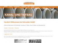 betonwaren-schneider.de Webseite Vorschau