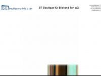 btaudio.ch Webseite Vorschau