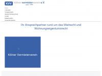 koelner-vermieterverein.de Webseite Vorschau