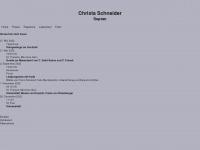 christa-schneider.de Webseite Vorschau