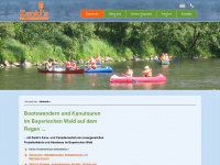 kanuverleih-zankl.de Webseite Vorschau