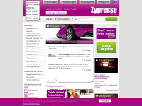 zypresse.com Webseite Vorschau