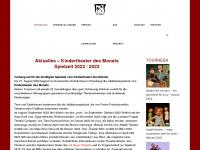 kindertheater-des-monats.de Webseite Vorschau