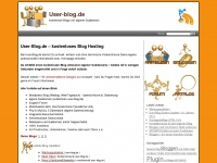 user-blog.de Webseite Vorschau