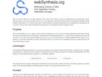 websynthesis.org Webseite Vorschau