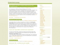 kinderbetreuung.wordpress.com Webseite Vorschau