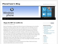 phone7user.wordpress.com Webseite Vorschau