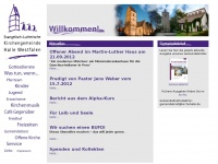 kirchehalle.de Webseite Vorschau